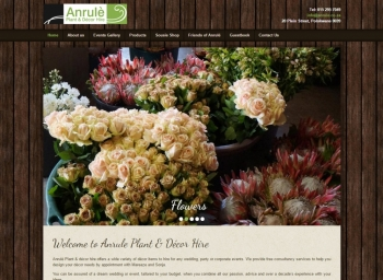 Anrule Plant & Décor Hire Website
