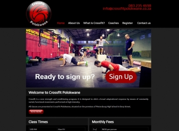 Crossfit Polokwane Website